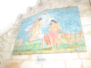 At the Entrance of Annunciation Basilica – Nazareth, donated by the Philippines